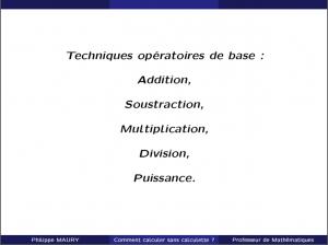 cours particuliers techniques opératoires de base