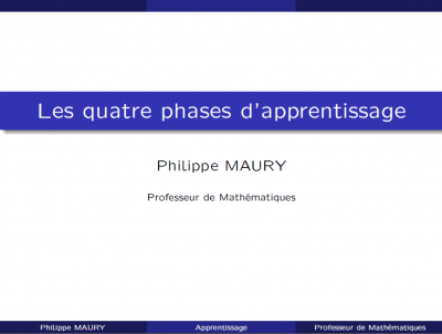les quatre phases d'apprentissage