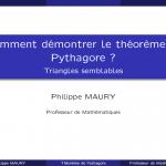 Démonstration du théorème de Pythagore avec les triangles semblables