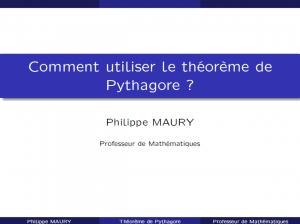 cours en ligne Théorème de Pythagore