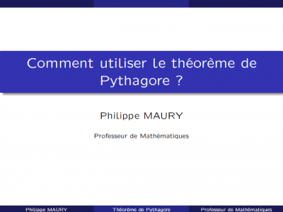 Comment utiliser le théorème de Pythagore ?