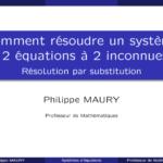 Comment résoudre un système d'équations par substitution ?